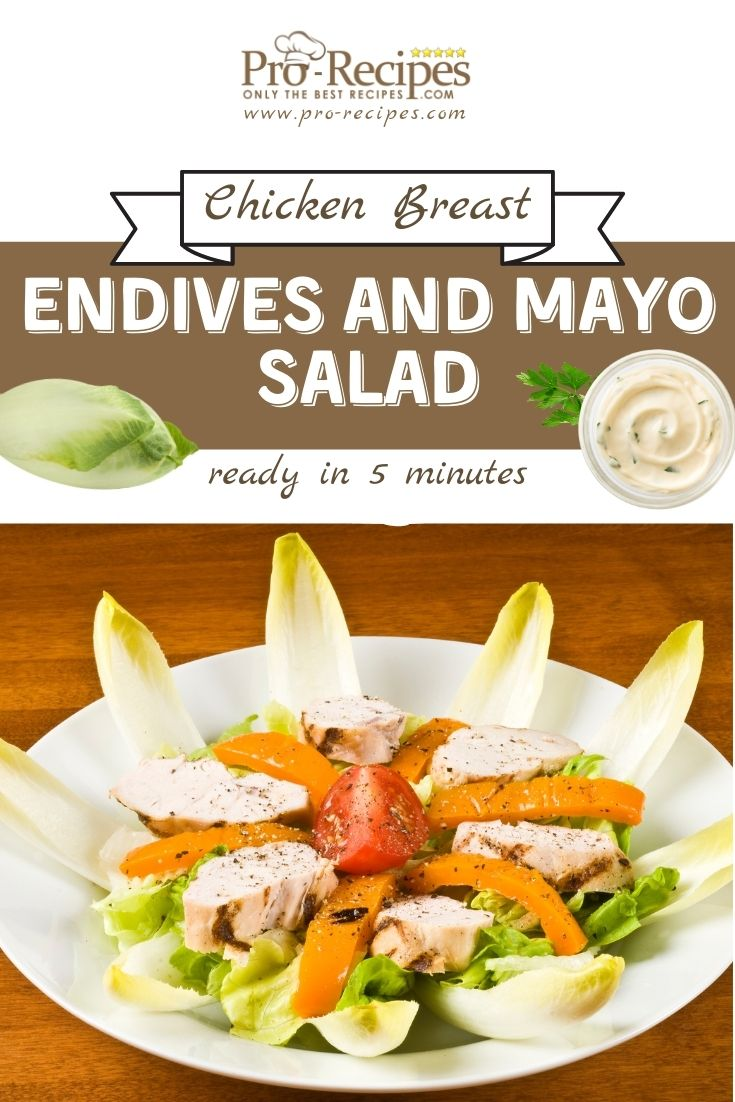 Chicken Breast, Endives and Mayo Salad - Pro-Recipes.com
