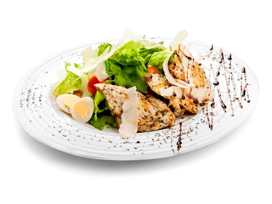 Grilled Chicken Salad with Sour Cream Dressing - Pro-Recipes.com