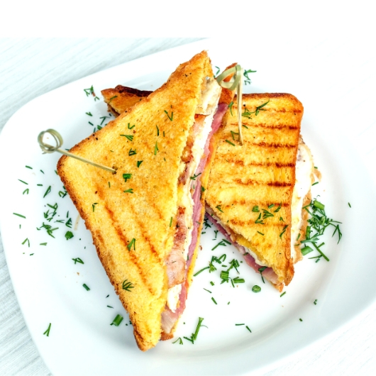 Grilled Cheese Sandwich with Sauteed Vegetables Recipe