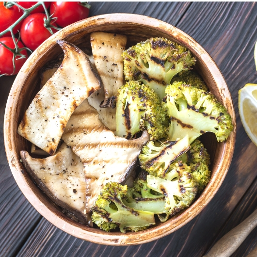 Grilled Mushrooms with Lemon Vinaigrette Recipe