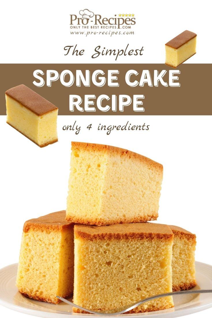 The Simplest Sponge Cake Recipe - Pro-Recipes.com