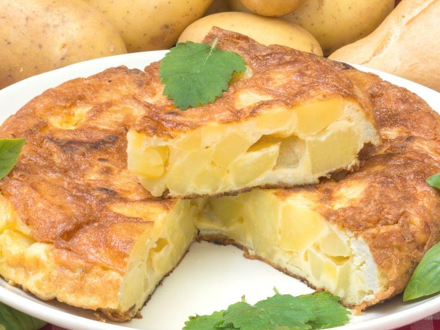 Potatoes and Cheese Omelet - Potatoes Frittata Recipe