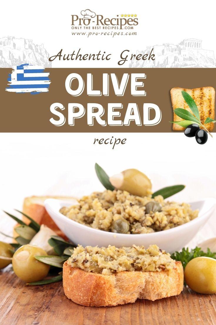 Simple Olive Spread - Authentic Greek Recipe - Pro-Recipes.com