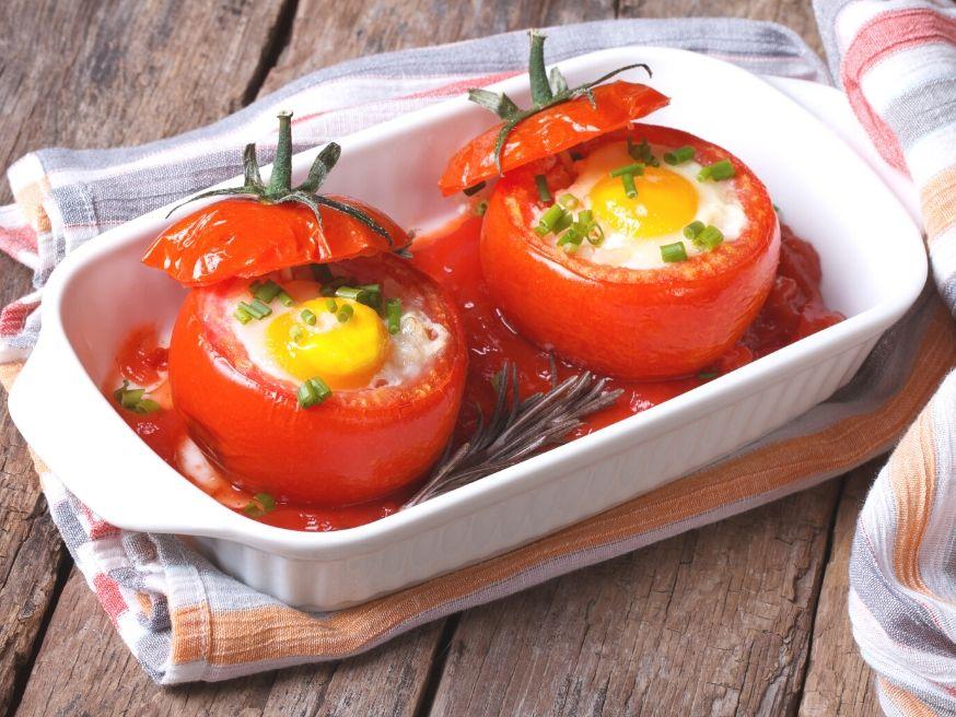 Tomato Egg Boats Recipe