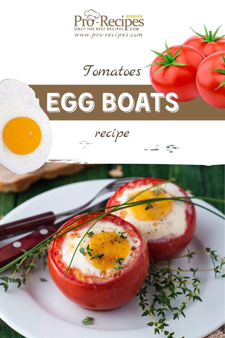 Tomato Egg Boats Recipe - Pro-Recipes.com
