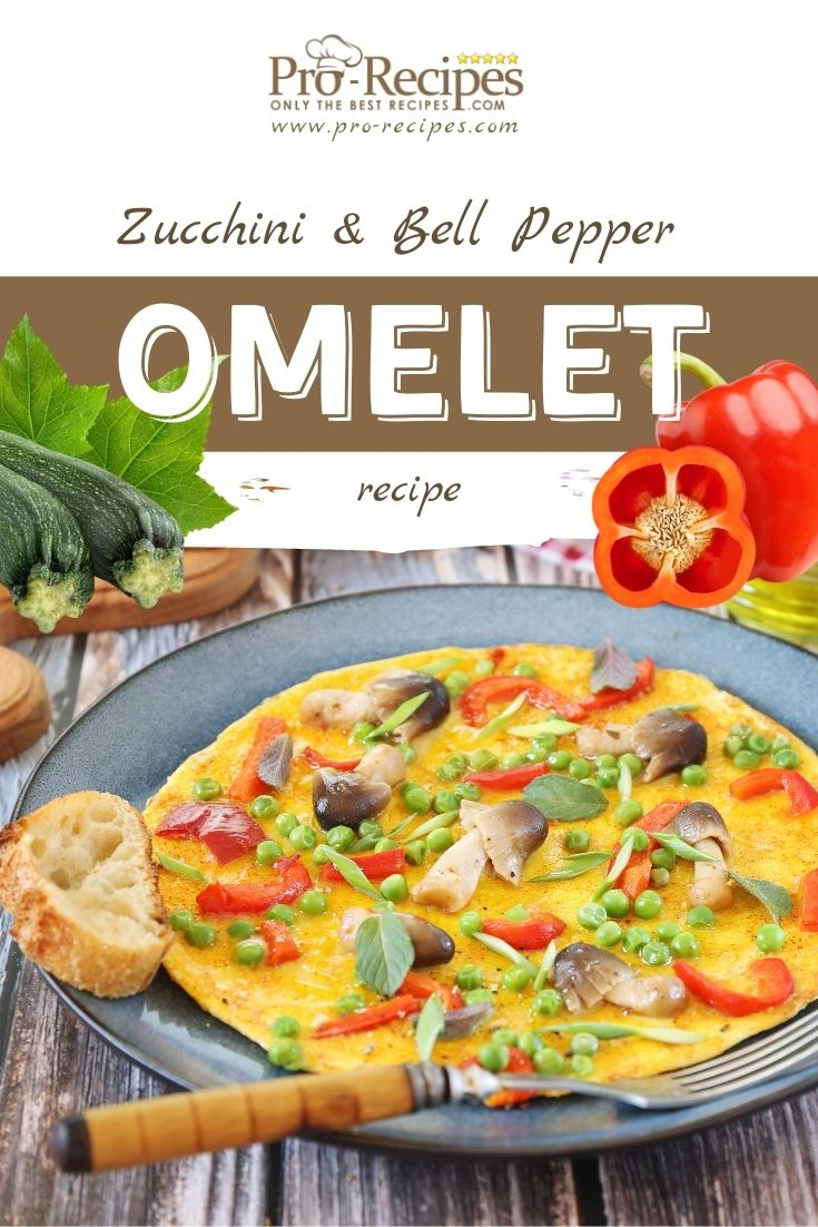 Tasty Zucchini and Bell Pepper Omelet Recipe