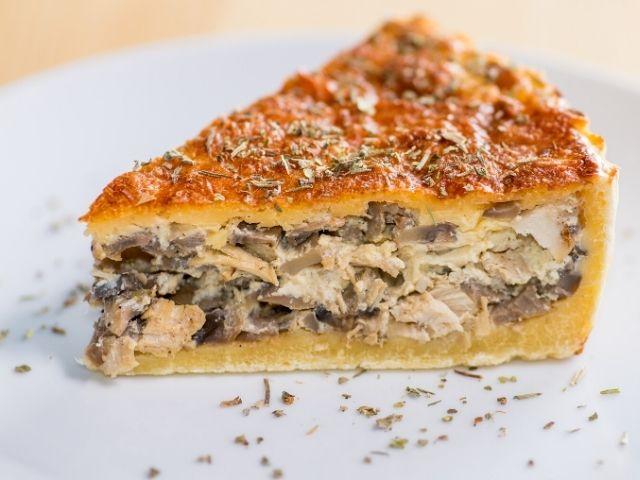 Mushroom Cake with Cream Sauce Recipe -Pastel de Cedas recipe