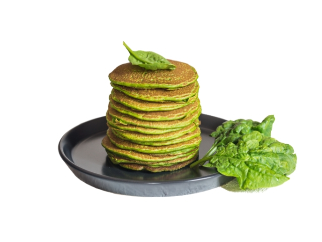Spinach Pancakes with Mushroom Filling Recipe