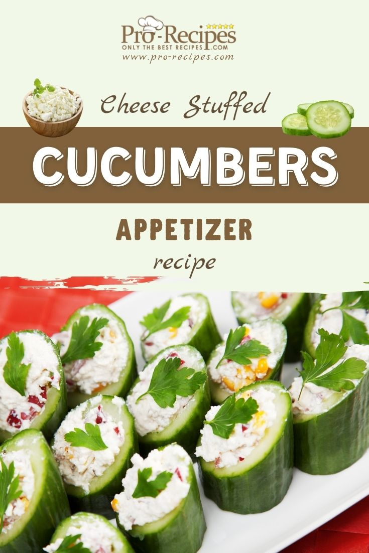 Easy Cucumber Boats Appetizers