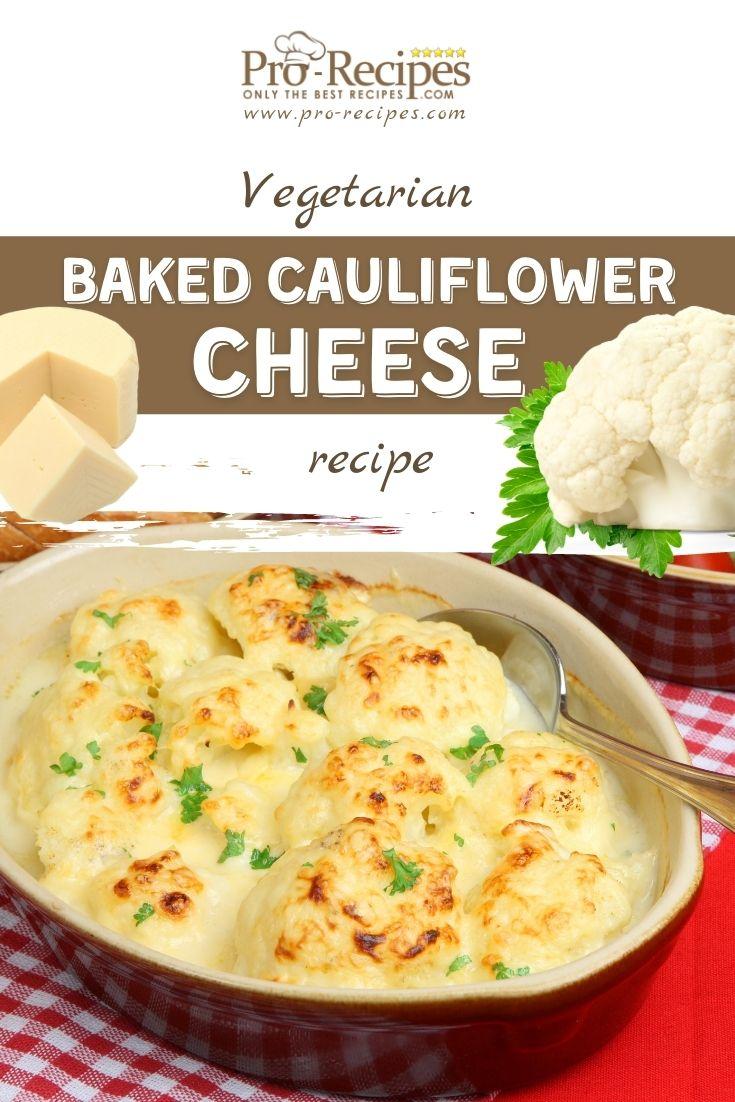 Baked Cheesy Cauliflower Recipe