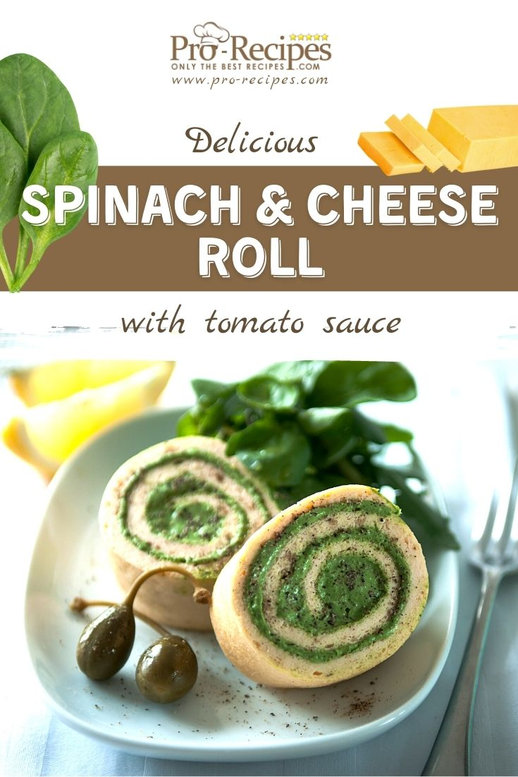 Spinach and Cheese Rolls Appetizer