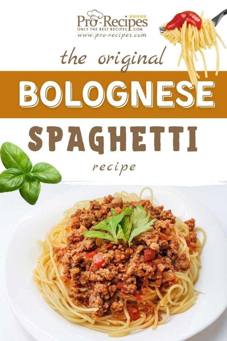 The Original Bolognese Spaghetti Recipe